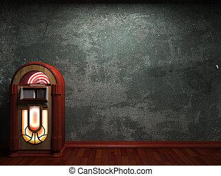 parete, concreto, vecchio