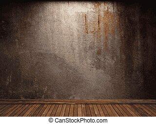 parete, concreto, vettore, fondo