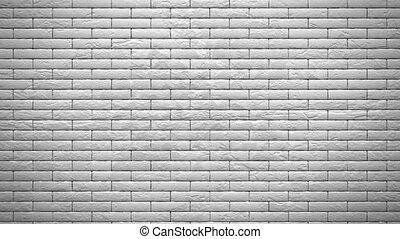 parete, di, bianco, mattoni, esplosione