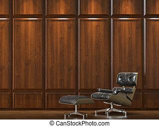 parete, divano, cladding, legno