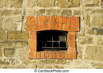 parete, finestra, pietra