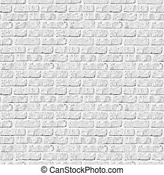 parete, fondo., mattone bianco, seamless