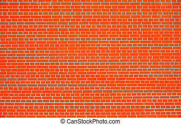 parete, fondo., mattone, rosso