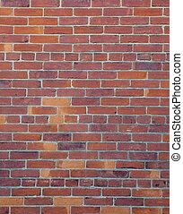 parete, fondo, mattone rosso