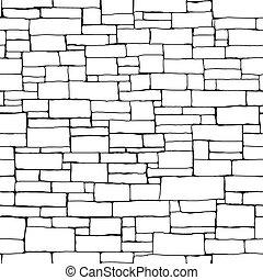parete, fondo., mattone, seamless