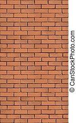 parete, fondo., mattone, verticale