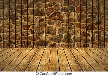 parete, fondo., pavimento