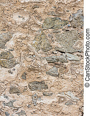 parete, fondo., pietroso