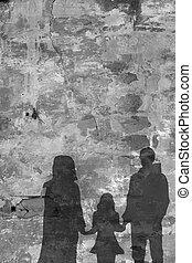 parete, fronte, pietra, refugees