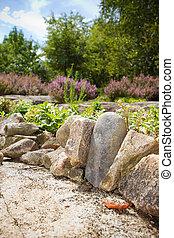 parete, giardino, roccia