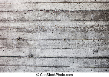 parete, grigio, concreto, shuttering, indurito, stampi, tracce