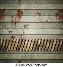 parete, grunge, metallo, fondo