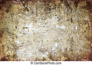 parete, grunge, vecchio, fondo