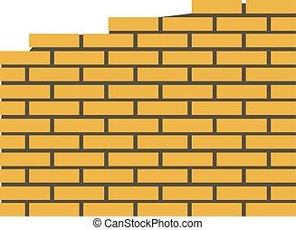 parete, icona, mattone, stile, appartamento