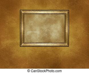 parete, immagine, cornice, vecchio