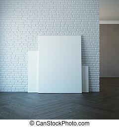 parete, immagine, vuoto