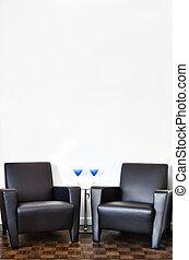 parete, interno, bianco, stanza moderna
