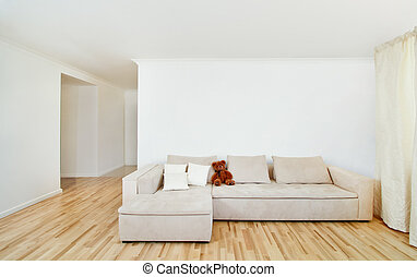 parete, interno, moderno, libero, casa