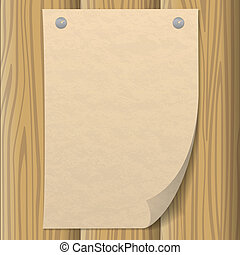 parete legno, carta, foglio