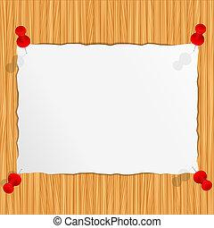 parete legno, carta