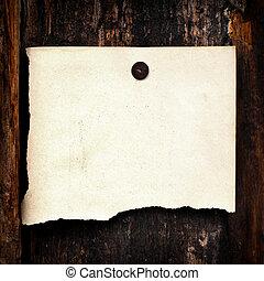 parete legno, carta, vecchio