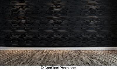 parete, luce, macchia, onda, nero, vuoto