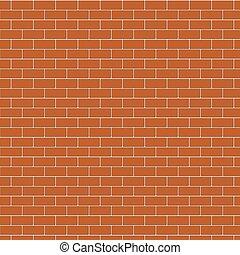 parete, marrone, mattone, fondo