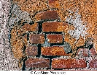 parete, mattone, adobe, badkdrop