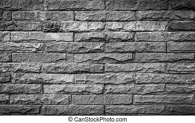 parete, mattone, antico, fondo