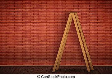 parete, mattone, closeup, rosso, struttura