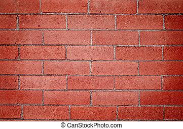 parete, mattone, dettaglio