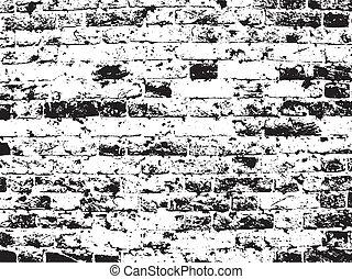 parete, mattone, grunge, fondo