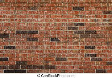 parete, mattone, nero rosso