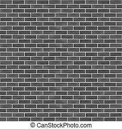 parete, mattone, nero, seamless