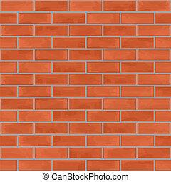 parete, mattone, seamless, fondo