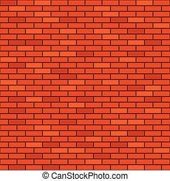 parete, mattone, seamless, fondo, rosso
