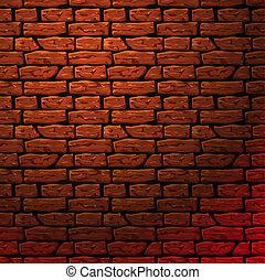 parete, mattone, seamless, patern