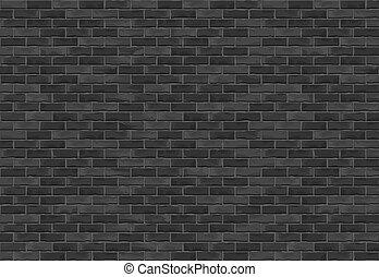 parete, mattone, sfondo nero