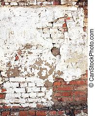 parete, mattone, vecchio