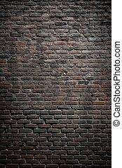 parete, mattone, vecchio, fondo