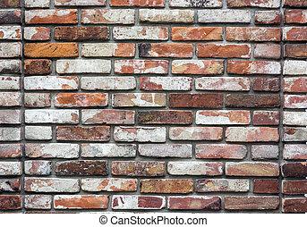 parete, mattone, vecchio, fondo, struttura