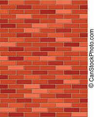 parete, mattone, verticale