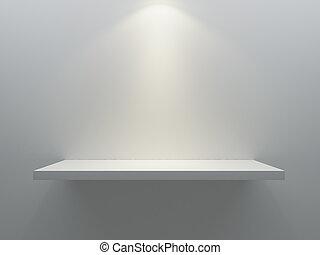 parete, mensola, stare in piedi, vuoto