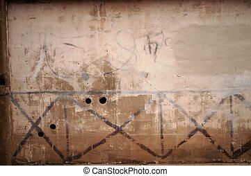 parete, modello, grunge