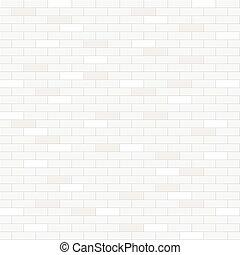 parete, modello, mattone bianco, seamless