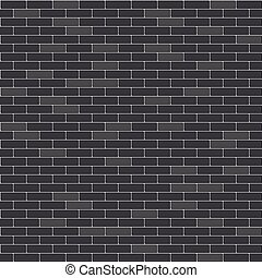 parete, modello, mattone, nero, seamless