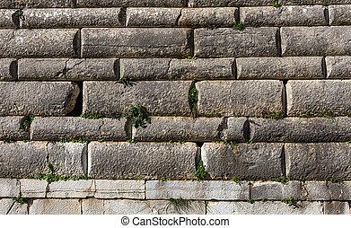 parete, modello, pietra, antico, fondo