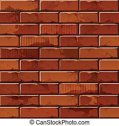 parete, modello, struttura, vettore, fondo, mattone