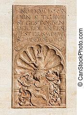 parete, necrologia, monastero
