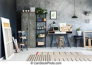 parete, nero, dipinti, inclina